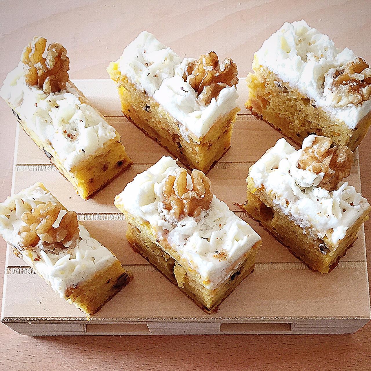 torta di zucca ricotta e noci