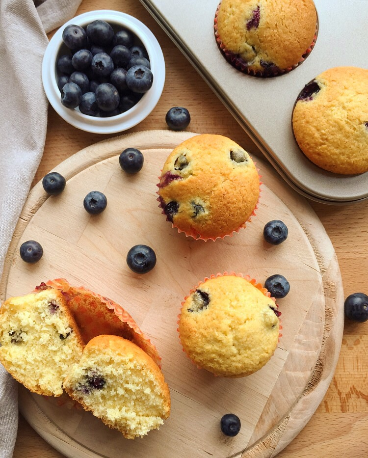 muffin ai mirtilli e cocco