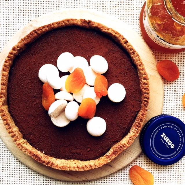 crostata integrale marmellata e cioccolato