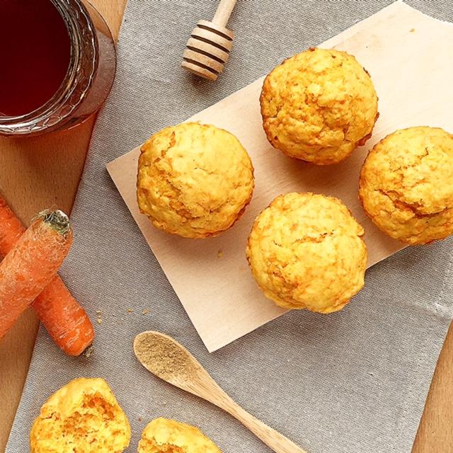 muffin carote miele e zenzero
