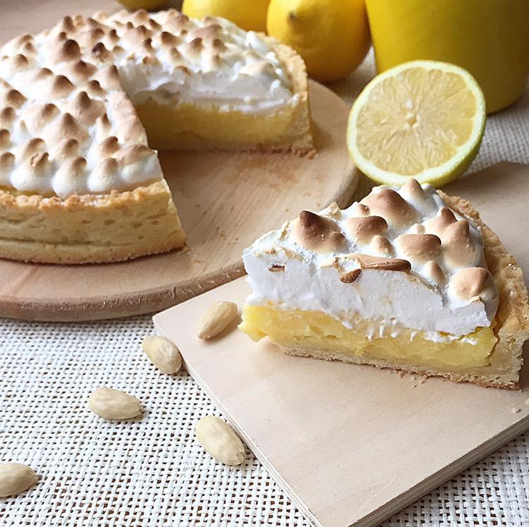 crostata al lemon curd e meringa