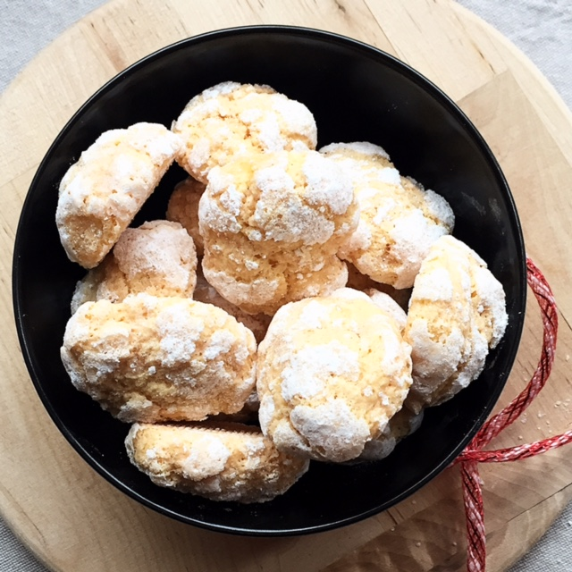 crinkle cookies all'Alchermes