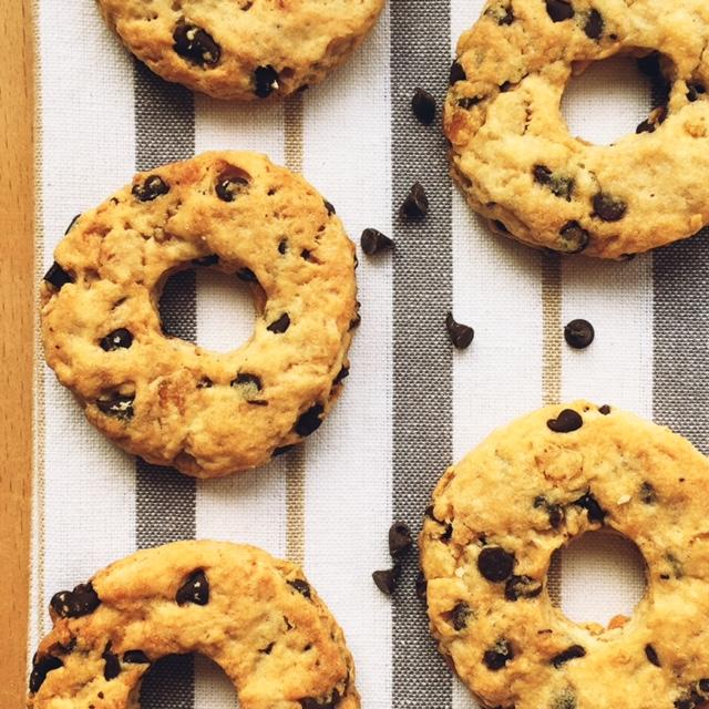 biscottoni vegani al farro con arancia e cioccolato