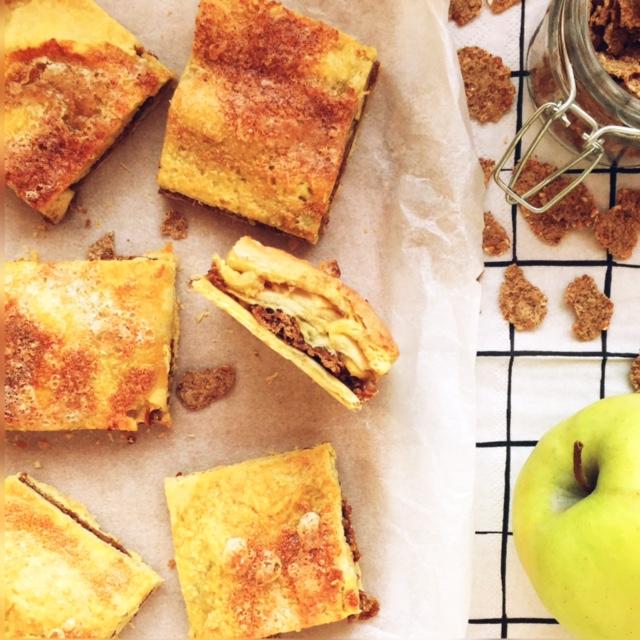 quadrotti di mele e cereali integrali
