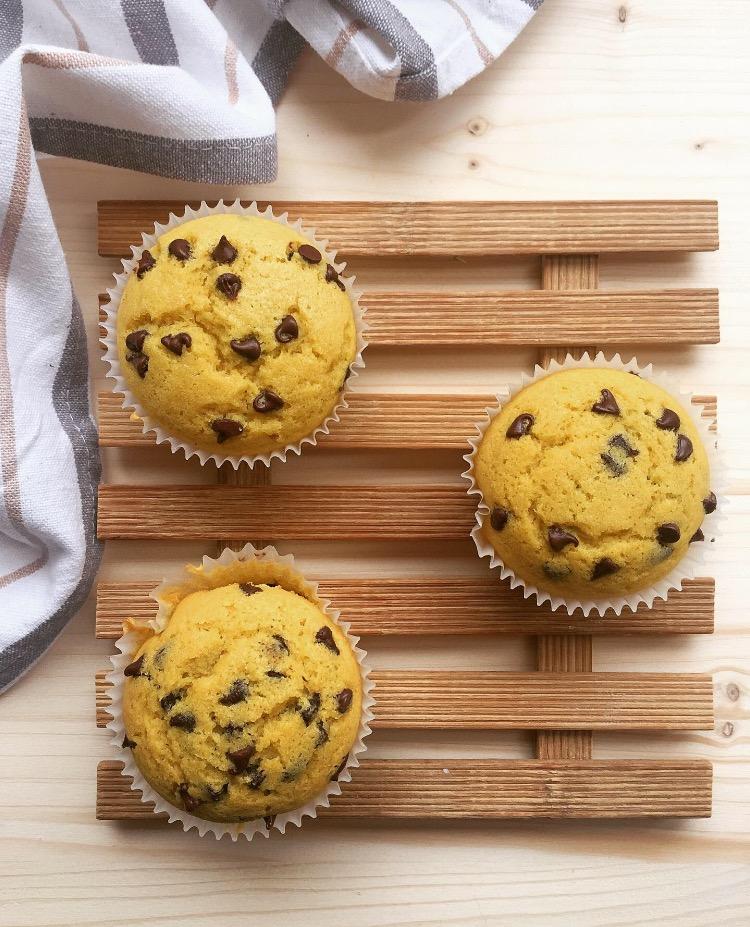 muffin con cuore al cacao