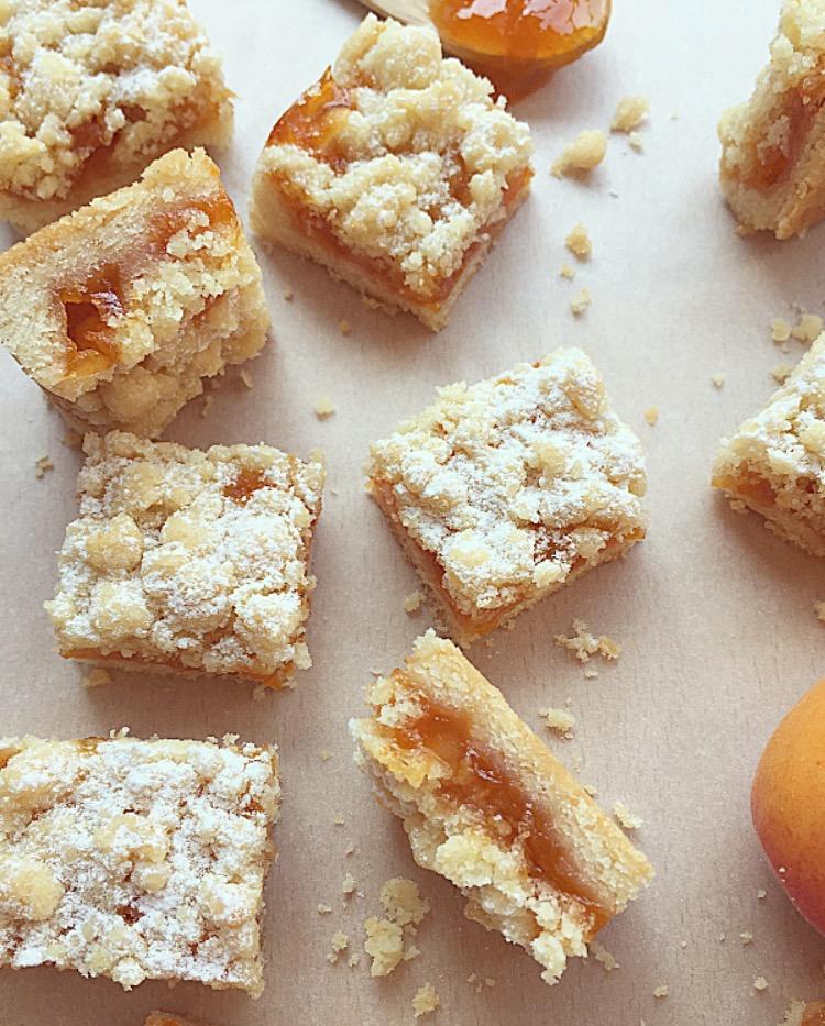 barrette vegane con marmellata di albicocche