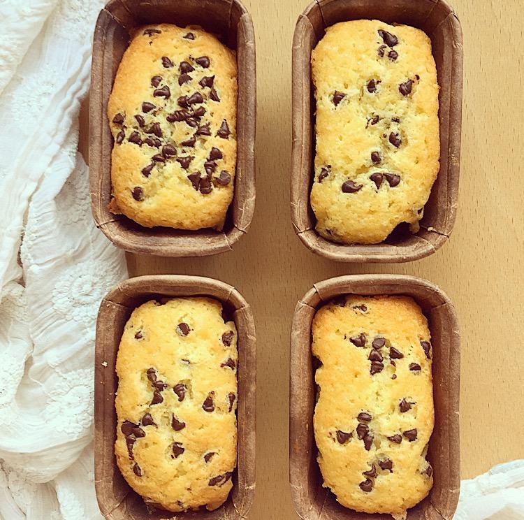 Mini plumcake con gocce di cioccolato