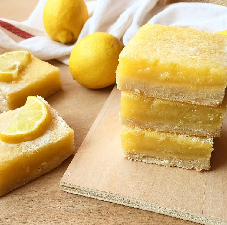 Barrette cremose al limone (anche senza burro)