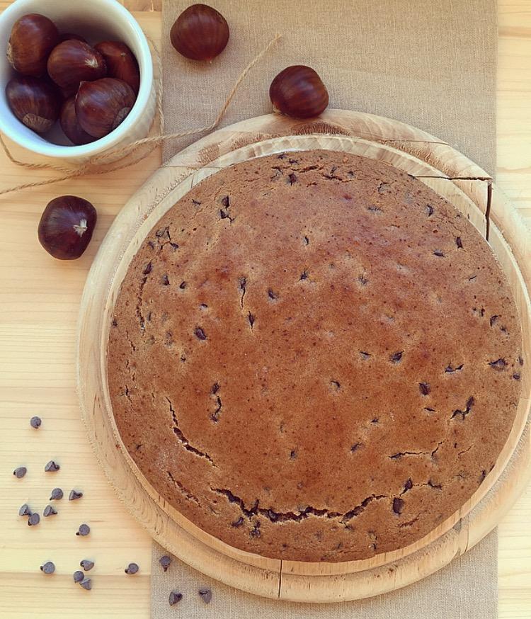 torta con farina di castagne e cioccolato