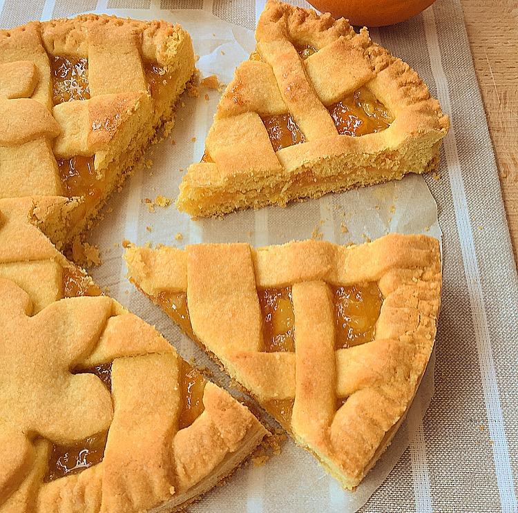 Crostata senza glutine con marmellata di arance