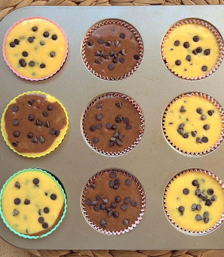 Muffin con le gocce di cioccolato, ricetta base