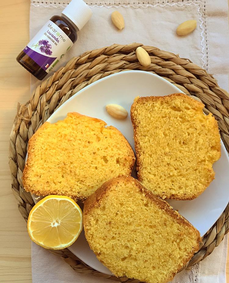 Plumcake al limone e lavanda senza burro
