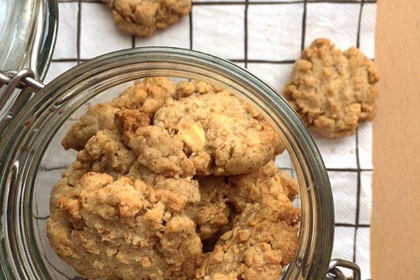 Cookies integrali al cioccolato bianco