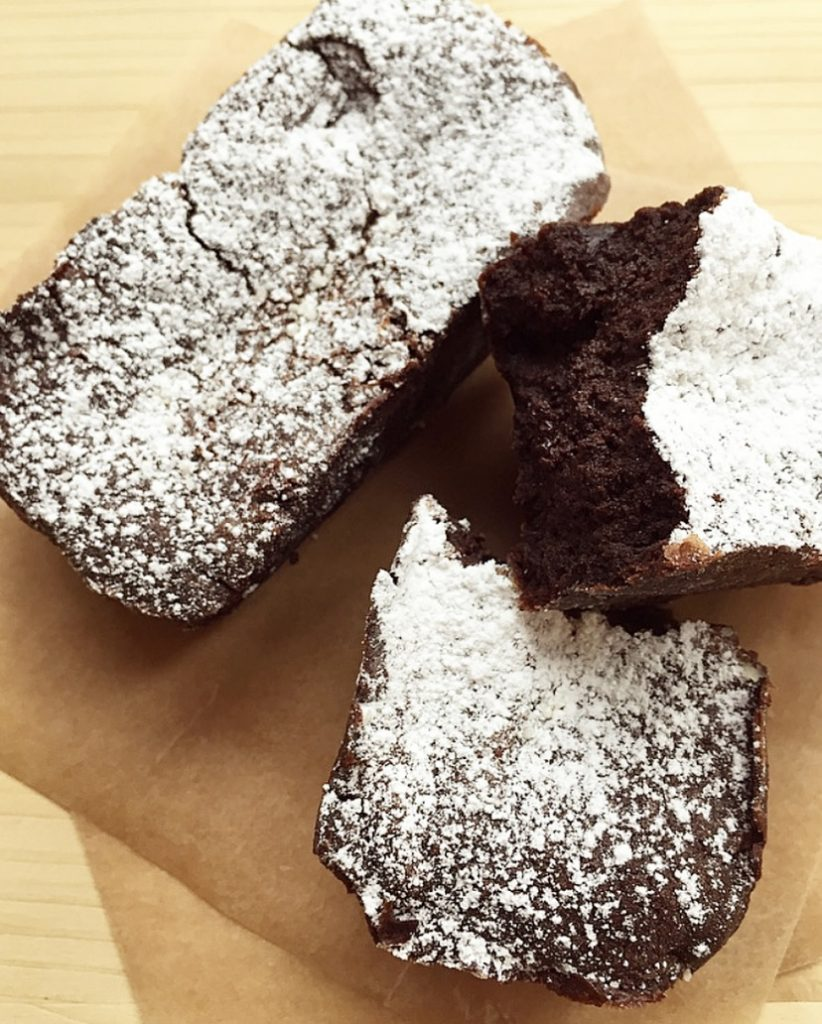 Mini plumcake soufflé al cioccolato fondente