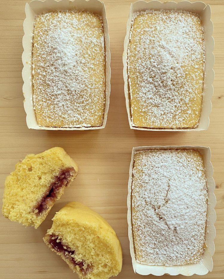 Mini plumcake soffici alla marmellata