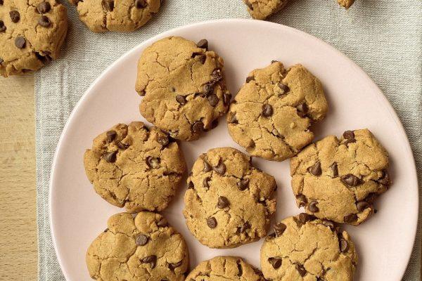 Cookies alle castagne e gocce di cioccolato
