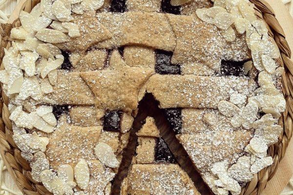 Linzer torte con confettura di mirtilli