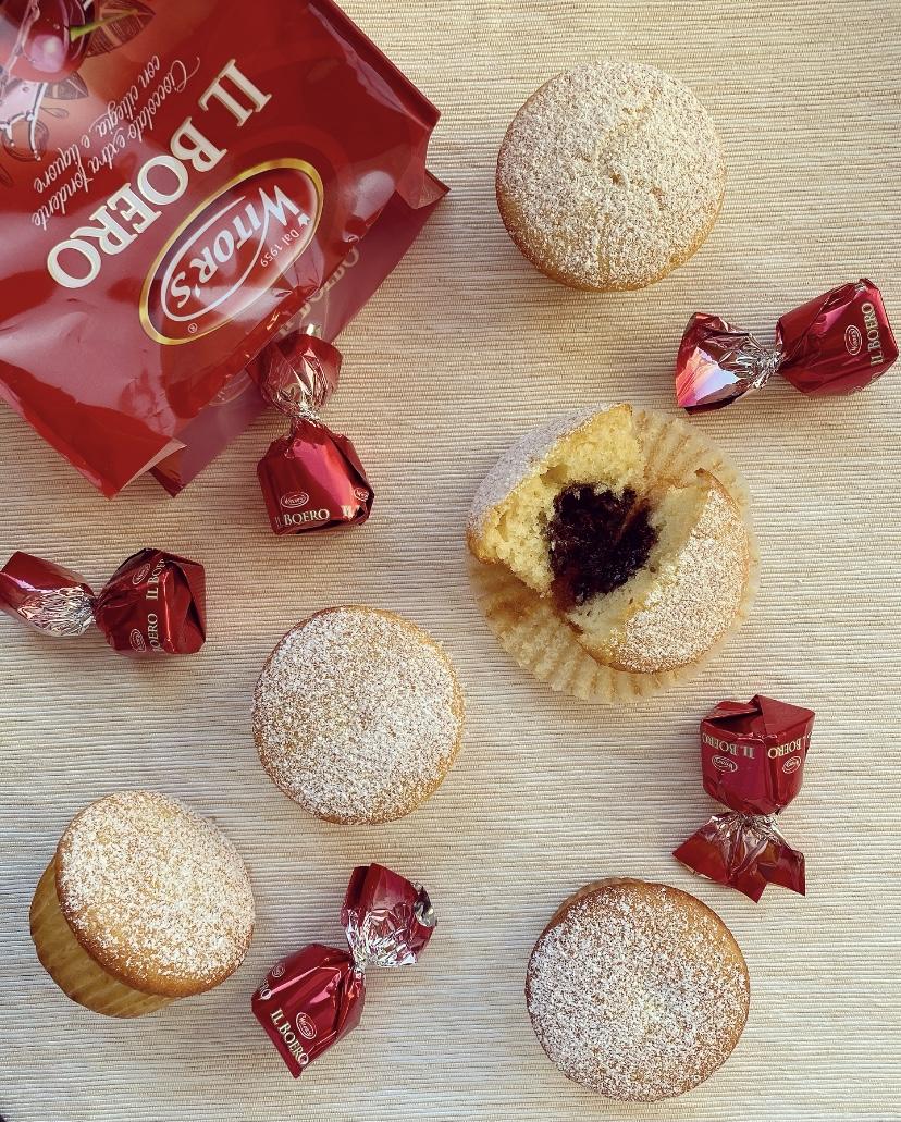 Muffin sofficissimi al latte e cioccolatini