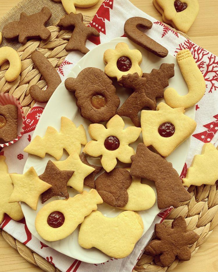 biscotti bicolore di natale e senza burro