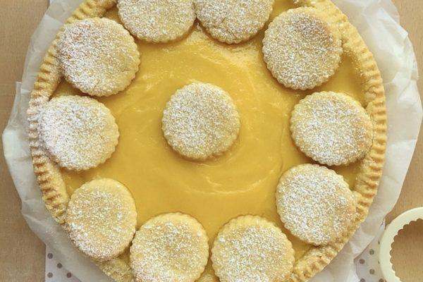 Crostata con crema bicolore