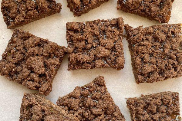 barrette morbide vegane al cacao e marmellata