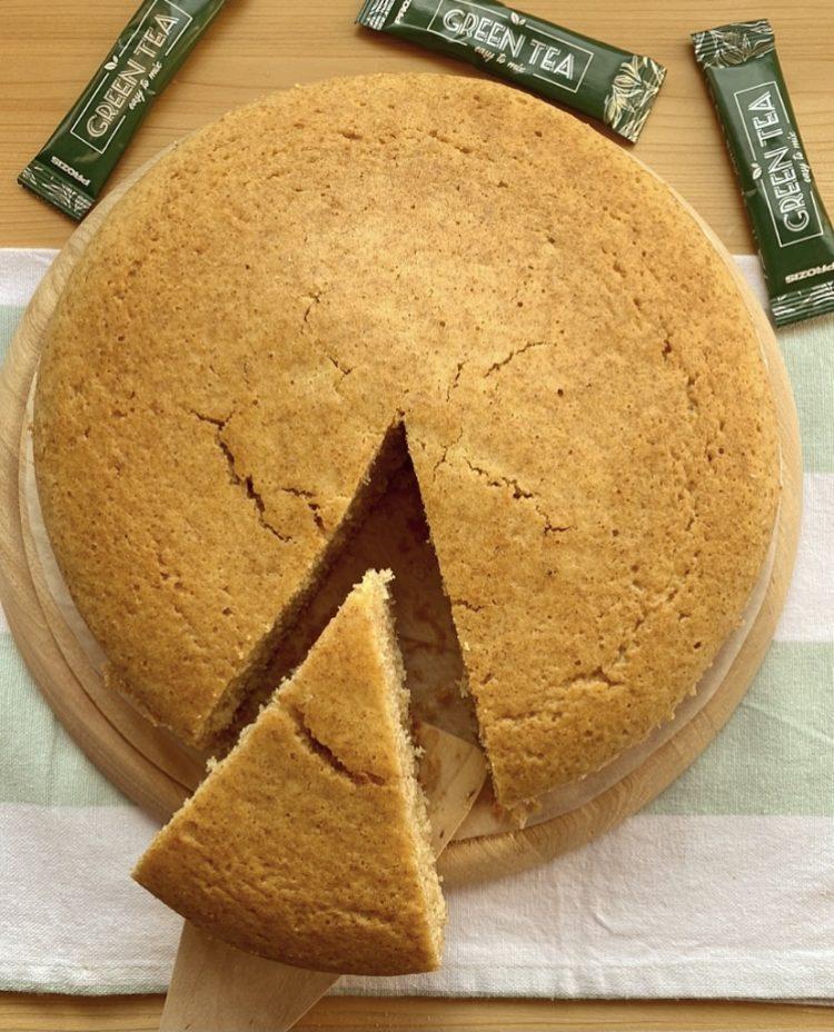 torta soffice al tè verde