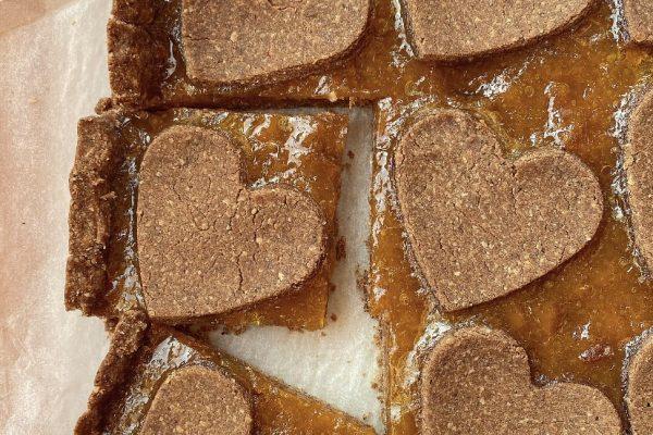 Crostata vegana e senza glutine con farina di teff