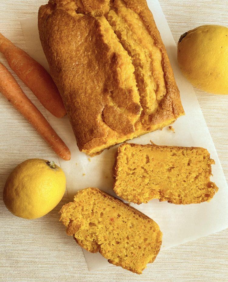 Plumcake alle carote, limone e mandorle