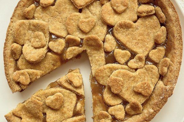 Crostata semi integrale al miele e confettura di pere