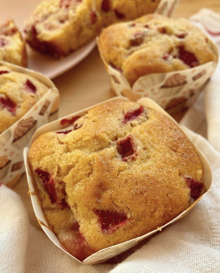 muffin alle fragole senza burro