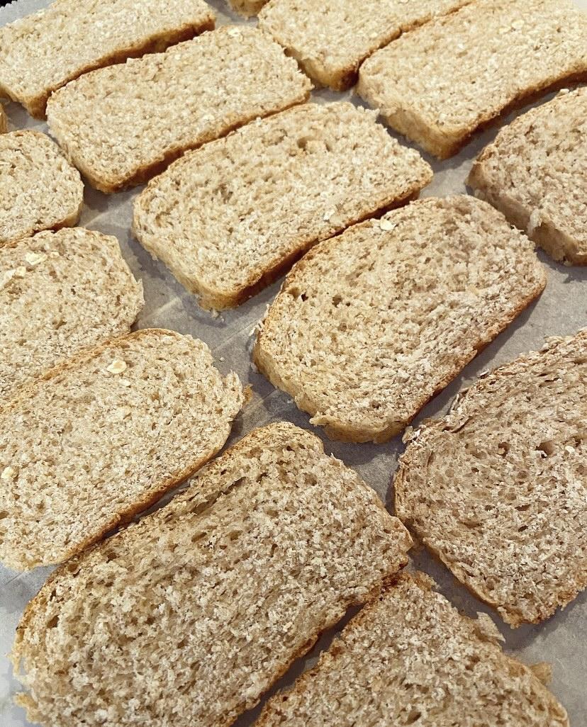 Fette biscottate integrali fatte in casa