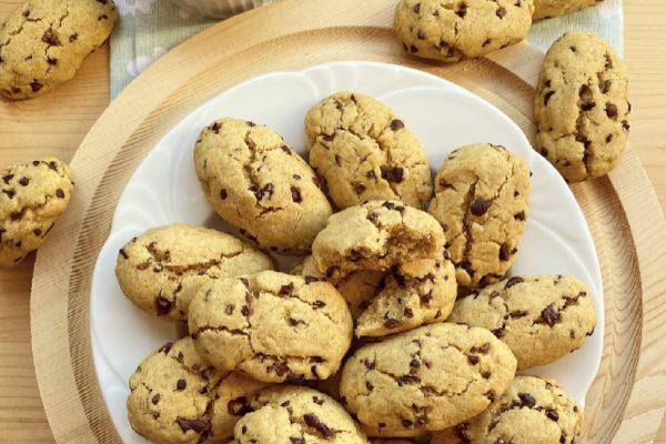 Biscotti integrali con granella di cacao