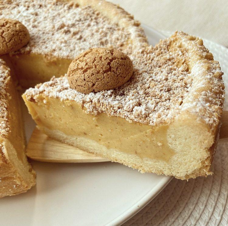 Crostata con crema agli amaretti